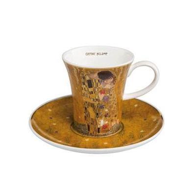 Šálek a podšálek espresso ARTIS ORBIS G. Klimt - The Kiss - 100 ml/8 cm, Goebel