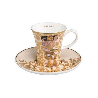 Šálek a podšálek espresso ARTIS ORBIS G. Klimt - Expectation - 100 ml, Goebel