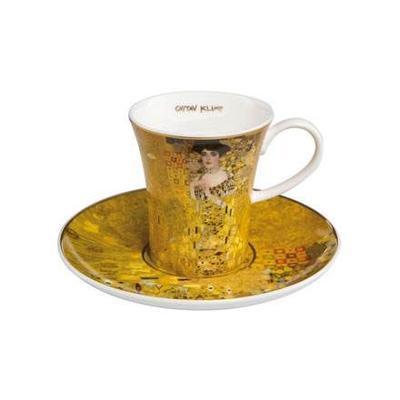 Šálek a podšálek espresso ARTIS ORBIS G. Klimt - Adele Bloch-Bauer - 100 ml, Goebel
