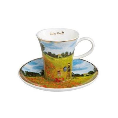 Šálek a podšálek espresso ARTIS ORBIS C. Monet - Poppy Field - 100 ml, Goebel