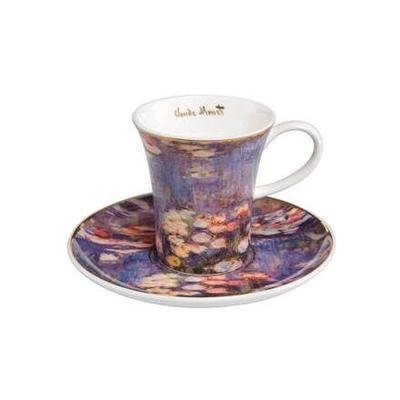 Šálek a podšálek espresso ARTIS ORBIS C. Monet - Evening Flowers II - 100 ml, Goebel
