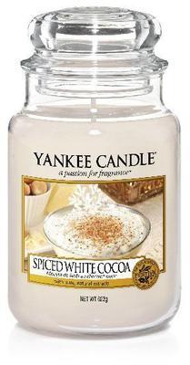Svíčka Spice White Cocoa - sklo č.3, Yankee Candle