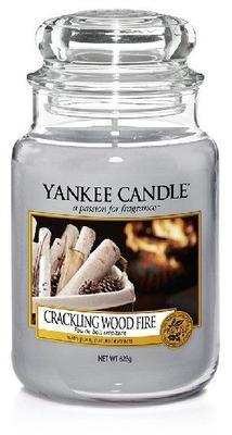 Svíčka Crackling Wood Fire - sklo č.3, Yankee Candle