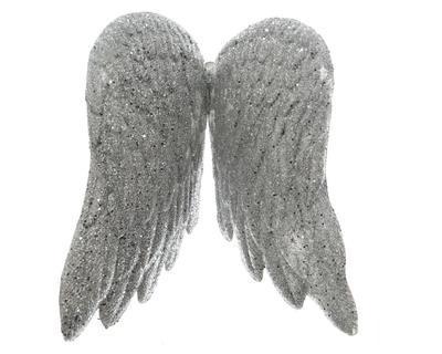 Vánoční ozdoba - andělská křídla S - stříbrná, Kaemingk