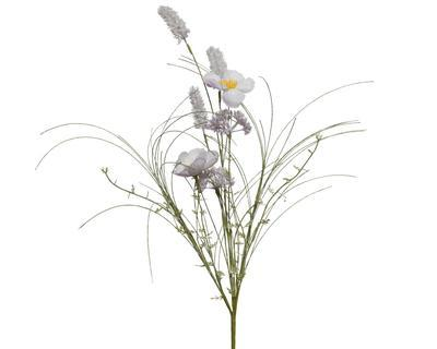Jarní svazek květin - mix, lila, 60cm, Kaemingk