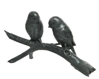 Dekorace PTÁČCI, 12x32x17,5cm, antik, Kaemingk