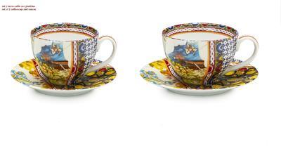 Set 2ks - šálek a podšálek na kávu BOUTIQUE - SANTA ROSALIA 12 cm, Palais Royal