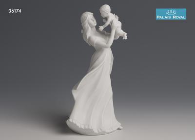 Dekorace soška - Matka s dítětem bílá PRIMAVERA 32 cm, Palais Royal