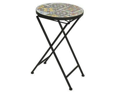 Přídavný stolek BRAGA s mozaikou,  30x51cm, venkovní. Kaemingk