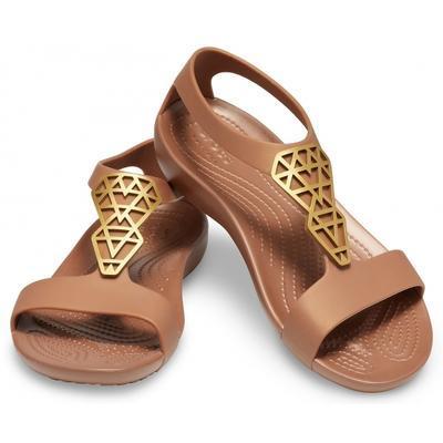 Sandály SERENA EMBELLISH SNDL W7 bronze/bronze, Crocs - 1