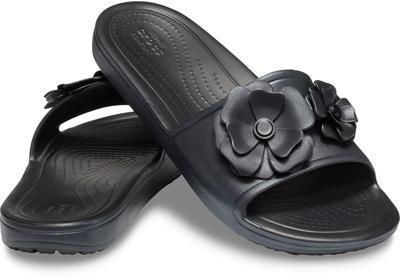 Pantofle SLOANE VIVIDBLOOMS SLD W10 black/black, Crocs - 1