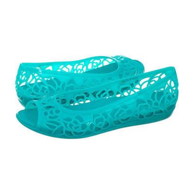 Balerínky ISABELLA JELLY FLAT W7 turquoise, Crocs