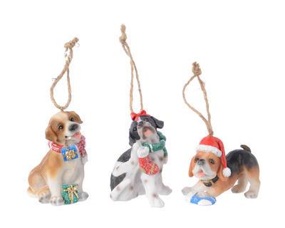 Vánoční ozdoba - Pejsek s glitry, Kaemingk