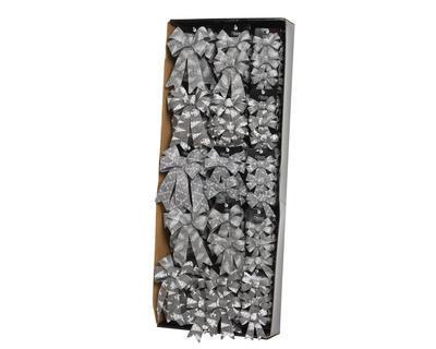 Vánoční ozdoba - Mašle různé druhy - stříbrná, Kaemingk