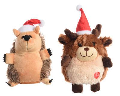Vánoční dekorace - Zvířátko Ježek/Jelen XMAS - hrající, Kaemingk