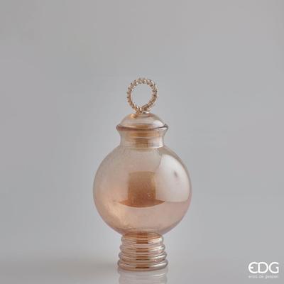Váza SFERA C/COPERCH 53 cm - jantarová, EDG