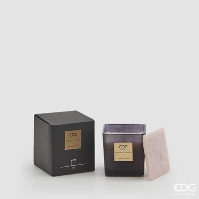 Svíčka vonná CANDELA C/VETRO CUBO 220 g - Rose&Tea Leaves, EDG