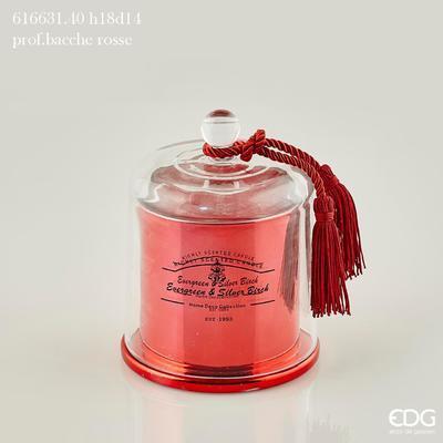 Svíčka vonná CANDELA C/CUPOLA 18 cm - červená, EDG