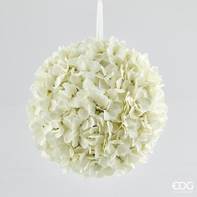 Květina HORTENZIE KOULE 30 cm - krémová, EDG