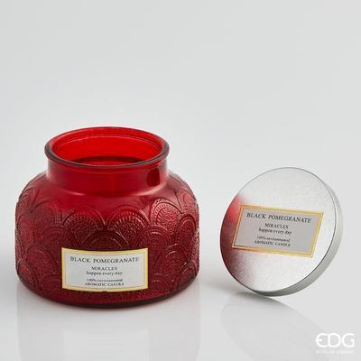 Svíčka vonná CANDELA SOIA C/VETRO 10 cm - Black Pomegranate, EDG