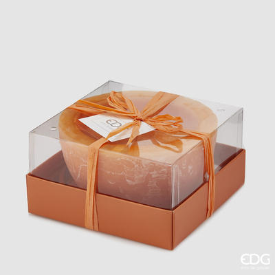 Svíčka vonná CANDELA VASO ORANGE 7,5 cm - oranžová, EDG