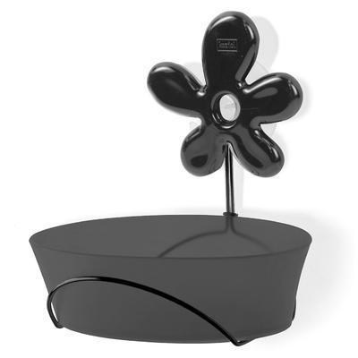 Držák na mýdlenku A-PRIL černá, Koziol