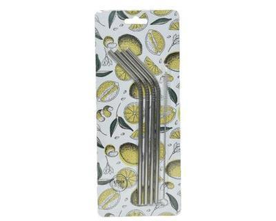 SET brček s čistícím kartáčkem, 21x0,6cm, stříbrné, Kaemingk