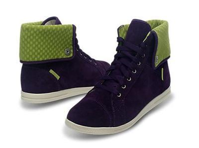 Tenisky LOPRO SUEDE HI-TOP SNEAKER W10 mulberry/green apple, Crocs - 1