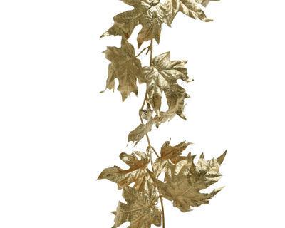 Vánoční girlanda - Javor s glitry 180 cm - zlatá, Kaemingk