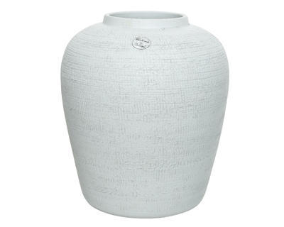 Váza STRUCTURE 27x27x30 cm - bílá, Kaemingk