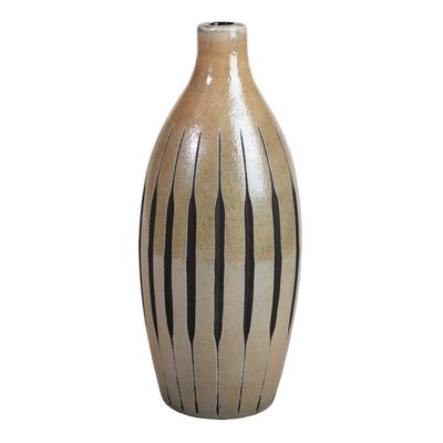 Váza NOUVELLE FLASCHE 15x15x33 cm - šedočerná, Wittkemper