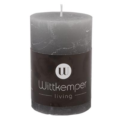 Svíčka RUSTIK PILLAR 9 cm - šedá, Wittkemper