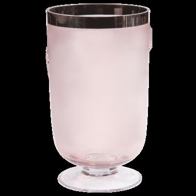 """Váza / svícen na noze PENELOPE """"M"""" 33 cm - růžový, Wittkemper"""