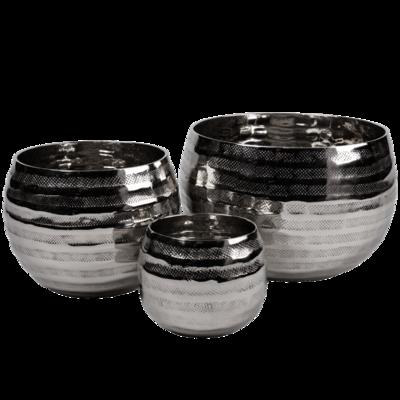 Set 3 svícnů NY SHINY - stříbrné, Wittkemper