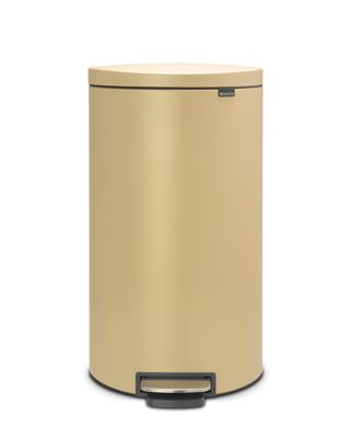 Pedálový koš FlatBack + Silent 30l, minerální zlatá , Brabantia   - 1