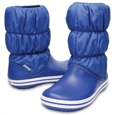Dámské nepromokavé zimní boty PUFF BOTS, jeans, vel. 38-39, Crocs - 1