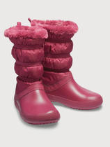 Dámské nepromokavé zimní boty WINTER BOOT, červené, vel. 35-36, Crocs - 1/2