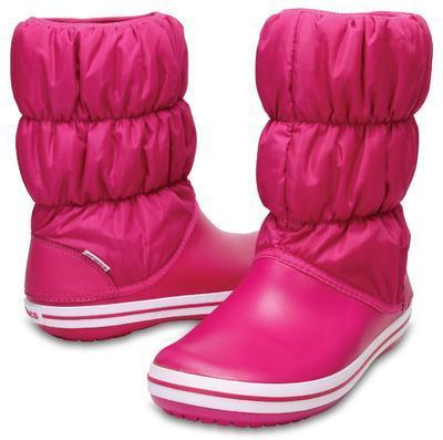 Dámské nepromokavé zimní boty PUFF BOTS, růžové, vel. 36-37, Crocs - 1
