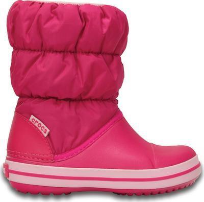 Dětské zimní boty WINTER PUFF Boot Kids-Candy Pink, růžové, vel. 34-35, Crocs
