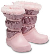 Dětské zimní boty LODGEPOINT Metalic s kožíškem, růžové, vel. 33-34, Crocs - 1/2