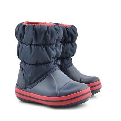 Dětské zimní boty WINTER PUFF Boot Kids-Navy/Red, vel. 33-34, Crocs - 1