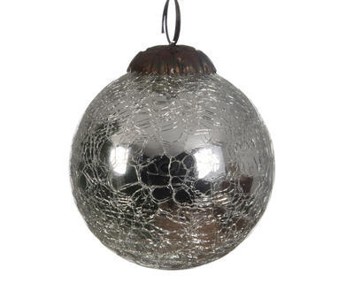 Vánoční ozdoba - Koule popraskaná 7,5 cm, Kaemingk
