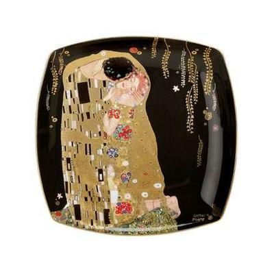 Talíř dezertní ARTIS ORBIS G. Klimt - The Kiss - 21x21 cm, Goebel