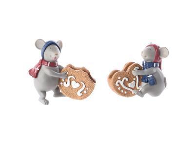 Vánoční dekorace - myš držák na jmenovky, Kaemingk