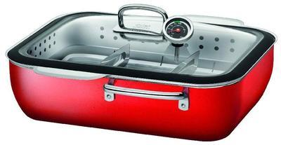 Multifunkční pekáč 4-dílný ECOMPACT ENERGY RED s poklicí 6,7 l, Silit