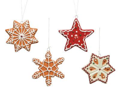 Vánoční ozdoba PERNÍČEK, 8 - 9cm, 4 druhy, Kaemingk - 1