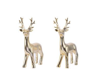 Dekorace  JELEN, zlatý, 11x6x19cm, 2 druhy, Kaemingk - 1