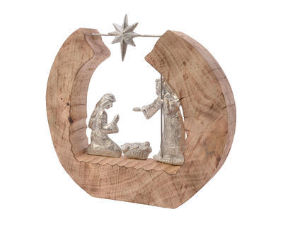 Vánoční dekorace BETLÉM, 6,5x37x32cm, Kaemingk