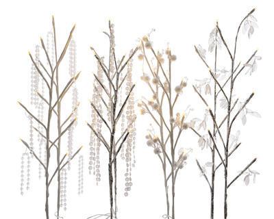 svítící dekorativní větve, 4 assort - 1