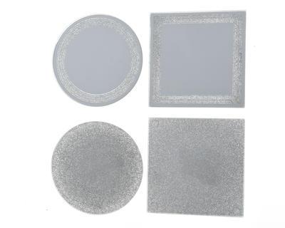 Podtácek, zrcadlo se třpytkami, 10cm, 4 druhy, Kaemingk - 1